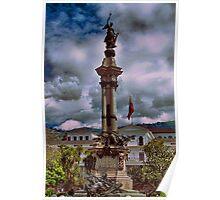 Ecuador. Quito. Plaza de la Independencia. Monument. Poster