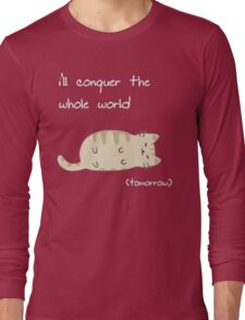 lazy cat  Long Sleeve T-Shirt