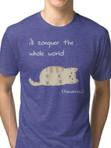 lazy cat  Tri-blend T-Shirt