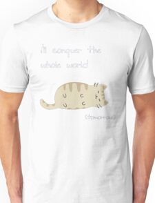 lazy cat  Unisex T-Shirt