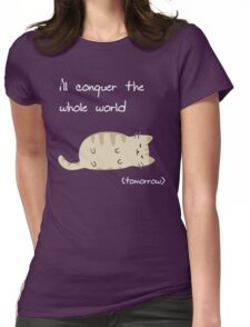 lazy cat  Womens Fitted T-Shirt