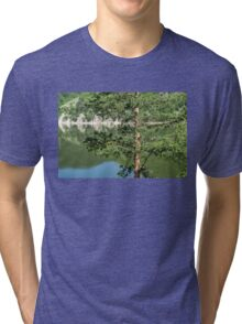 Summer in the Mountains - Forest Lakes and Pine Trees Beauty Tri-blend T-Shirt