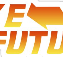 Bike to the Future Sticker