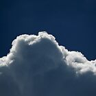 Cloud and Deep Blue Sky by Sandra  Aguirre