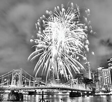 Fireworks in Pittsburgh by HotSaus Design