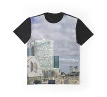 Editorial,14th May 2016:  Paris, France. Defense skyscrappers view, sunny day, glass, steel and reflections Graphic T-Shirt