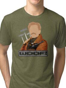 Lord Flashheart 'Woof' design Tri-blend T-Shirt