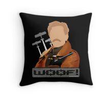 Lord Flashheart 'Woof' design Throw Pillow
