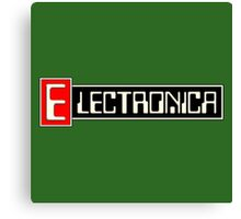Electronica music Canvas Print