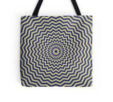 Blue and Yellow Zig Zag Rings Tote Bag