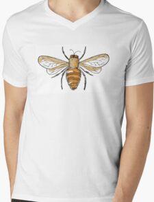 Black and gold bees Mens V-Neck T-Shirt