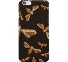 Black and gold bees iPhone Case/Skin