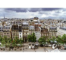 Editorial,13th May 2016:  Paris, France. Traditional Paris street view, France Photographic Print