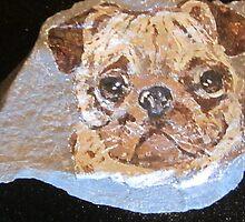 Pug Dog by ravenart47