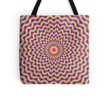 Chevron Rings in Pink Yellow and Blue Tote Bag