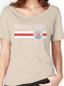 EPL 2016 - Football - Stoke City (Home Red) Women's Relaxed Fit T-Shirt