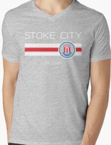 EPL 2016 - Football - Stoke City (Home Red) Mens V-Neck T-Shirt