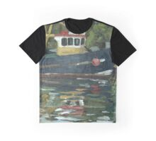 Fishing boat at Dartside Quay, Galmtpon Graphic T-Shirt