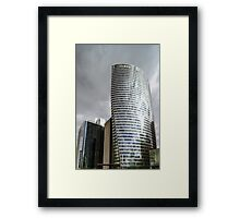 Editorial,14th May 2016:  Paris, France. Defense skyscrappers view, sunny day, glass, steel and reflections Framed Print