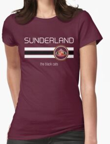EPL 2016 - Football - Sunderland (Away Black) Womens Fitted T-Shirt