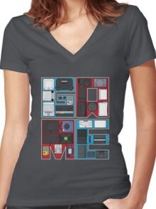 History of Video Games: 101 Women's Fitted V-Neck T-Shirt