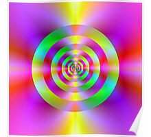 Psychedelic Rings Poster