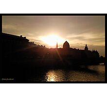 Paris pont d'alma Photographic Print