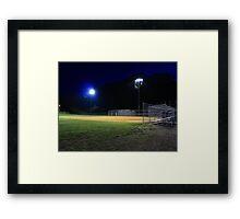 Night Baseball Framed Print