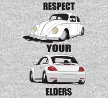 Respect your Elders-White Ink Kids Tee