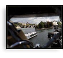 Paris pont des Arts Canvas Print