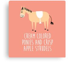 Sound of music pony Canvas Print