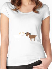 Sound of music goat herd Women's Fitted Scoop T-Shirt
