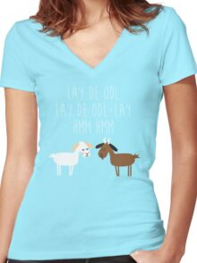 Sound of music goat herd Women's Fitted V-Neck T-Shirt