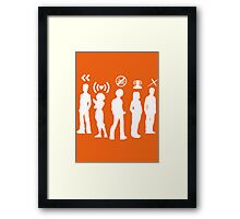 What's our powers? Framed Print