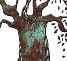 TREE OF LIFE - aqua grunge Sticker
