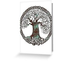 TREE OF LIFE - aqua grunge Greeting Card