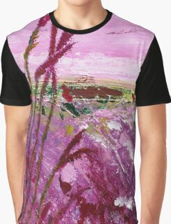 Nature with lavender in purple Graphic T-Shirt