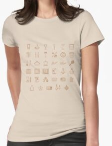 icons kitchen Womens Fitted T-Shirt