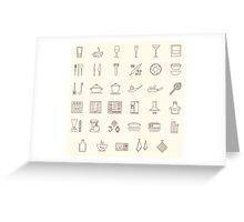 icons kitchen Greeting Card