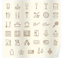 icons kitchen Poster