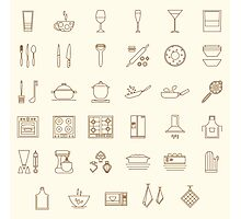 icons kitchen Photographic Print