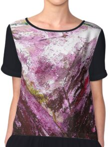 Abstracted lavender Chiffon Top