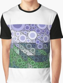 Abstract blue and green circles Graphic T-Shirt
