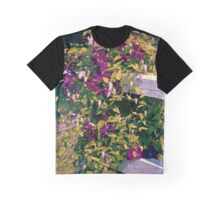 Clematis On A Corner Fence Graphic T-Shirt