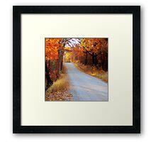 Fall in Oklahoma Framed Print