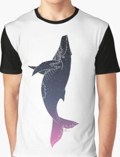 Sky Whale (white lines) Graphic T-Shirt