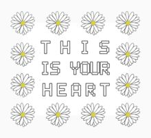 This is your heart // Daisy shirt (white) T-Shirt