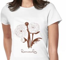 Ranunculus flowers Womens Fitted T-Shirt