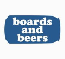 Boards and Beers - Blue Lite Can by LanceDonnahue