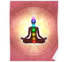 Chakra Meditation Print Poster